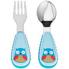 Set tenedor y cuchara de acero inoxidable B�ho Skip Hop