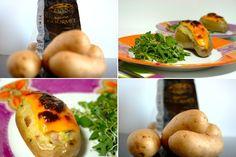 Batatas gourmet recheadas com bacon, courgette e aipo from cincoquartosdelaranja.blogspot.com