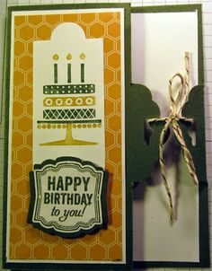 Crafty Maria's Stamping World: Scallop tag top card enclosure