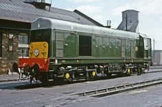 English Electric Type 1 (Class 20) Bo-Bo D8123 at Polmadie Shed on 15th July 1965. (Bill Wright)