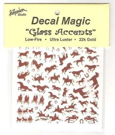 Mini 22k Gold Decals * Horses * for Glass Fusing Projects #Profusion