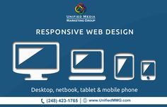 Our responsive web design has up-to-date functionalities for all devices whether it is for desktop, notebook, tablet and mobile phone. #responsivewebdesign
