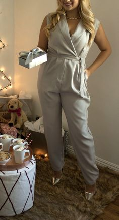 Cozy up with the family to open gifts in this comfy and classy jumpsuit @nordstrom