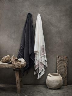 my scandinavian home: Celebrating calm, rustic space living Boho Bathroom, Bathroom Trends, Bathroom Towels, Small Bathroom, Bathroom Ideas, White Bathrooms, Bathroom Closet, Luxury Bathrooms, Master Bathrooms