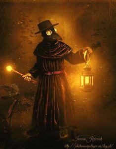 """Plague Doctor by MirandaArts on DeviantArt"" Plague Mask, Plague Doctor Mask, Plague Dr, Plague Doctor Halloween Costume, Doctor Costume, Halloween Costumes, Creepy Halloween, Black Plague Doctor, Plauge Doctor"