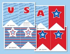 USA Freedom Ring Printable Banner | Paging Supermom