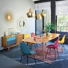 Eikenhouten, vintage tafel