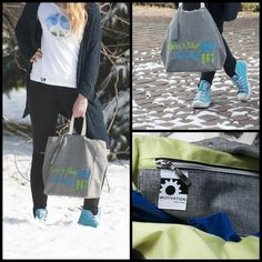 Full motivating stylisation . Green and blue -  best for spring and summer! Tee and bag from Motivation Factory Poland