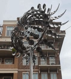 Wind sculpture. I hope that this artist is making many more like this. It's incredible.