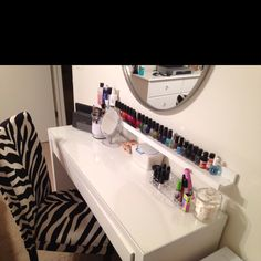 My Vanity: Malm Dressing Table From Ikea And Zebra Chair From Stein Mart.