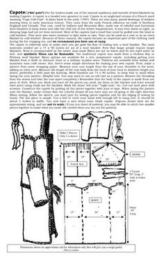 How to Make a Capote Wilderness Survival, Camping Survival, Survival Tips, Survival Skills, Mountain Man Clothing, Sewing Tutorials, Sewing Crafts, Clothing Patterns, Sewing Patterns