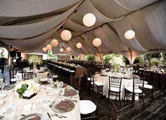 outdoor tent wedding ideas