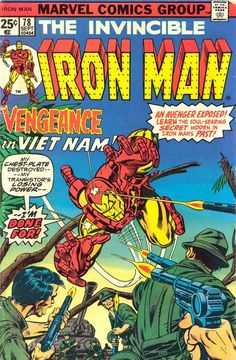 Iron Man n°78, September 1975, cover by Gil Kane.