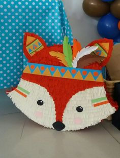 Fox Party, Baby Party, Animal Party, Happy 2nd Birthday, 1st Birthday Parties, Kids Party Decorations, Party Themes, Micro Creche, Birthday Pinata