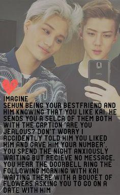 EXO Imagine <3 #kai #sehun  (I'm dead rn TBH)
