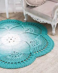 Free crochet patterns and video tutorials: Amazing crochet rugs ideas Crochet Sunflower, Crochet Daisy, Crochet Yarn, Crochet Tunic Pattern, Crochet Rug Patterns, Crochet Crocodile Stitch, Free Crochet Bag, Crochet Summer Dresses, Crochet Carpet