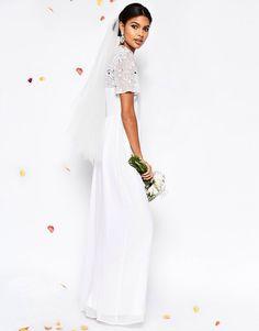ASOS BRIDAL High Neck Embellished Maxi Dress
