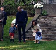 William Duke of Cambridge, Catherine Duchess of Cambridge, Prince George, Princess Charlotte at a children's party at Government House Canada. September 29 2016