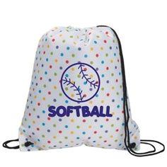 Imprint on Front - (Volleyball) Softball Tshirts, Softball Bags, Volleyball Accessories, Volleyball Outfits, Polka Dot Backpack, T Shirt Image, Drawstring Backpack, Polka Dots, Backpacks