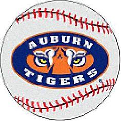 Fanmats Auburn Tigers Baseball-Shaped Mat