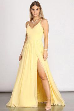 Daisy Off Shoulder A-Line Dress – Windsor Pretty Prom Dresses, Hoco Dresses, Cheap Prom Dresses, Dance Dresses, Homecoming Dresses, Cute Dresses, Beautiful Dresses, Pastel Prom Dress, Yellow Formal Dress