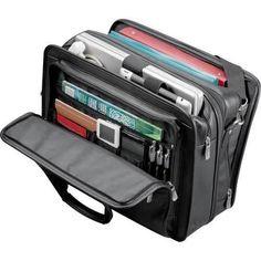 "New Kenneth Cole Manhattan Leather Compu-Attache, 16"" Business Black Laptop Bag  #KennethColeReaction #BriefcaseAttache"