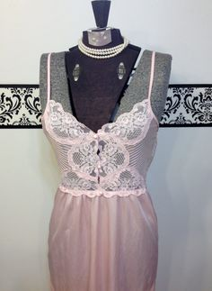 1960's Princess Pink Pin Up Nightgown by by RetrosaurusRex on Etsy, $29.99