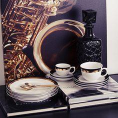 Aparelho de Jantar 30 peças Porcelana Jazz - Oxford Porcelanas