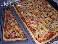 Γεύση Ελευθερίας: Σπιτική πίτσα Lasagna, Homemade, Snacks, Ethnic Recipes, Food, Appetizers, Home Made, Essen, Meals