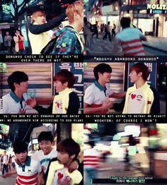 WooGyu couple and Dongwoo