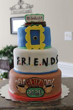 48 Super Tv Shows Birthday Friend Cake Ideas,friends cake decorations,friends birthday cake topper,friends themed cake decorations Friends Birthday Cake, Friends Cake, 16 Birthday Cake, Themed Birthday Cakes, 16th Birthday, Themed Cakes, Birthday Recipes, Birthday Quotes, Birthday Ideas