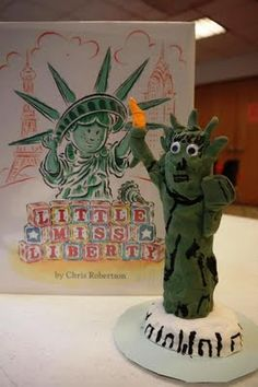 Celebrate the Statue of Liberty by reading the book: Little Miss Liberty by Chris Robertson. Then have fun creating this fun sculpture!
