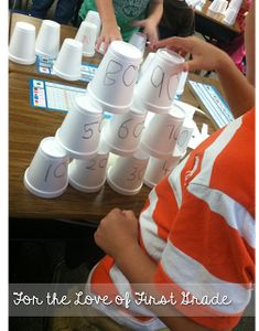 Hands on Skip Counting by 10's: Have a cup stacking contest