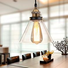 Vintage-Industrial-Cafe-Glass-Shade-Metal-Pendant-Lamps-Fixture-Hanging-Lights