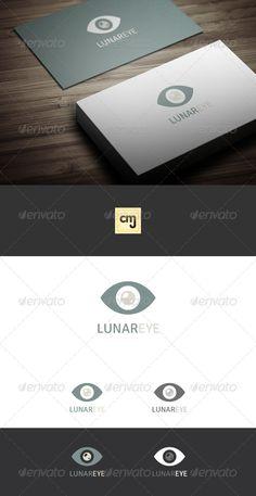 Simplicity=best,  Lunar Eye Logo Template