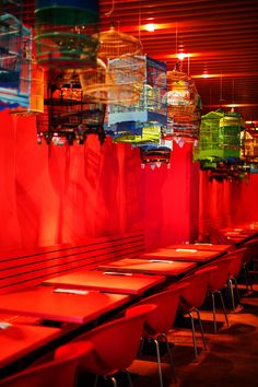 © Marta Greber F&W Photo Tour: Berlin. Transit restaurant features a vibrant red interior and delicious Southeast Asian food.