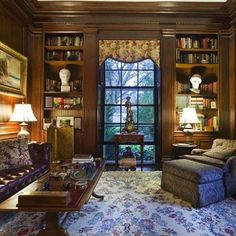 How Would You Like This For A Lounge Room Or A Study? Check Ideas For · Masculine  Office DecorClassic ...