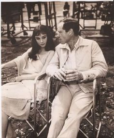 Audrey Hepburn and her husband Mel Ferrer