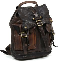 Campomaggi Backback Leather 35 cm - C06005VL | Designer Brands :: wardow.com
