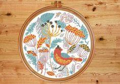 Bird cross stitch modern cross stitch от PatternArtCollection