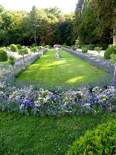 modern gardens, garden decor, chateau garden, au chateau, beauti garden, chateau chenonceau, garden interior, chateau de, flower