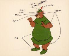 Robin Hood Little John Color Model Cel (Walt Disney, 1973). Rare   LotID #68009   Heritage Auctions