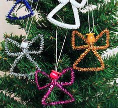 Christmas 49 Awesome Angel Crafts | FeltMagnet Christmas Crafts For Gifts For Adults, Christmas Party Games For Adults, Easy Christmas Crafts, Simple Christmas, Christmas Angel Ornaments, Angel Crafts, Project Ideas, Projects, Pipe Cleaners