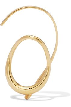 """Charlotte Chesnais' pieces are like """"little sculptures"""" defined by graphic and fluid lines. This 'Caracol' ear cuff is handmade from gold-dipped silver and creates the illusion of a floating hoop. Sweep back your hair to show it off."""