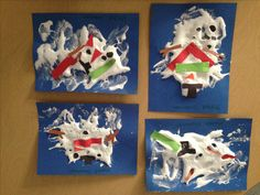 Melted snowman winter activity for arts and crafts. Mix shaving cream with liquid glue (I used elmhers) more liquid glue cones out shiny and more shaving cream comes out foamy. Mix until you get a stringy consistency!