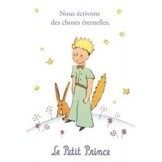 Carte postale Le Petit Prince - Nous écrivont des choses éternelles