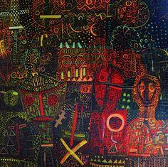 "I Wayan Gede Budayana ""Theater of life"" (Teater  kehidupan) Acrylic on canvas 146 x 144 cm 2017"