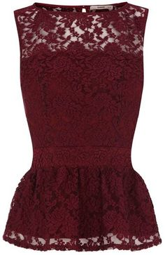 Lace Peplum Top.