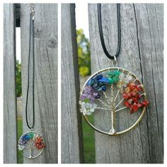 """2 X NEW Natural Amythyst Life Tree Necklace Add a pop of color to your summer outfit with this new natural amethyst life tree necklace! Silvertone with multicolor gemstone chips creating a beautiful tree. Necklace is18 inches in Length, Life tree circle is 2"""" wide. Listing is for two necklaces. Jewelry Necklaces"""