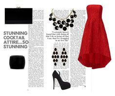 """""""Red & Black"""" by normah on Polyvore featuring ML Monique Lhuillier, Giuseppe Zanotti, Charlotte Olympia, Alexander McQueen, Amrita Singh, Kate Spade and RedeemedClothing"""